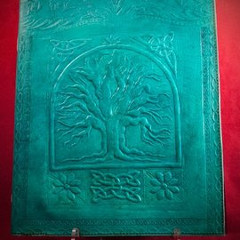 Hex Large Tree of Life Journal in Blue