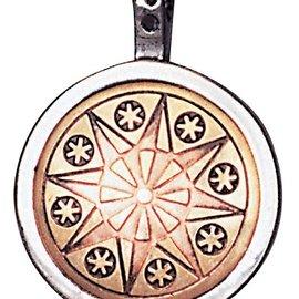 Hex Earth-Star Flower Talisman for Serenity & Inner Strength