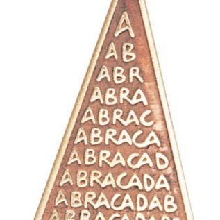 Hex Abraca Triangle Charm Pendant for Unexpected Good Fortune