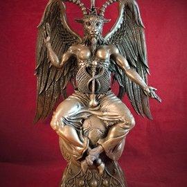 Hex Baphomet Statue by Maxine Miller in Cold Cast Bronze