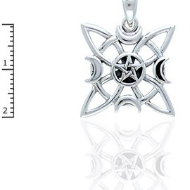 Hex Elemental Star with Pentacle and Moonstone
