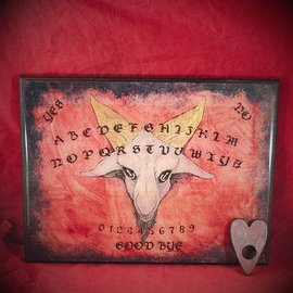 Hex Baphomet Spirit Board with Planchette in Red Finish by Heather Reid