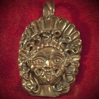 Hex The Gorgon Medusa Pendant in Bronze