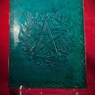 Hex Small Herbal Pentagram Journal in Blue