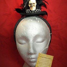 Hex Skull Top Hat Headban