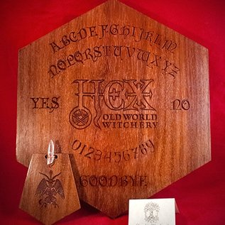 Hex Padauk Hexagram Spirit Board With Hex Logo