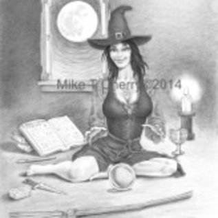 Hex Magical Salem Pencil Drawing by Salem Artist Mike Cherry