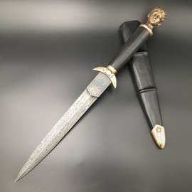 Artemis Athame in Hand-forged Damascus Steel