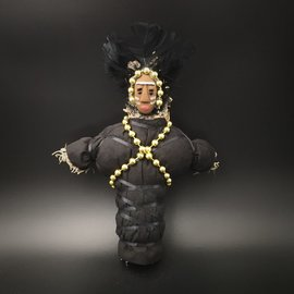 Hex New Orleans Swamp Witch Voodoo Doll in Black