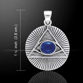 Eye of the Pyramid Pendant with Lapis