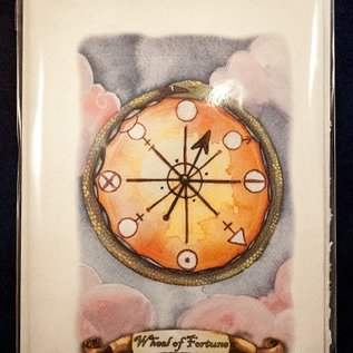 OMEN The Wheel of Fortune - Tarot Greeting Card