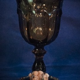 Brown Chalice with Crystal Cluster