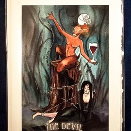 OMEN The Devil - Tarot Greeting Card