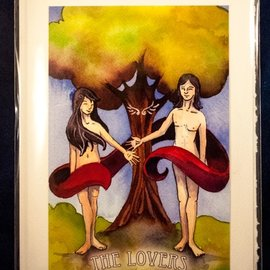 The Lovers - Tarot Greeting Card
