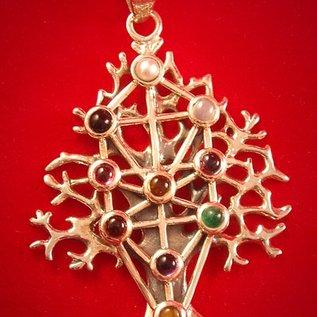 Kabbalah Tree of Life with Gems