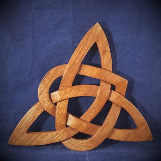 OMEN Celtic Heart Triquetra Wall Hanging in Mahogany