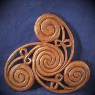 Celtic Triskel Wall Hanging in Mahogany