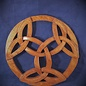 OMEN Celtic Triple Triquetra Wall Hanging in Mahogany