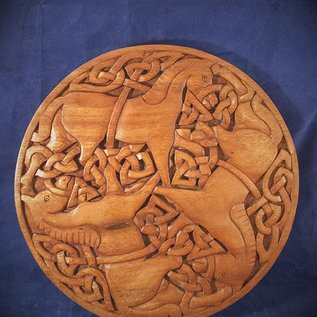 OMEN Celtic Epona Wall Hanging in Mahogany