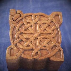 OMEN Celtic Puzzle Box in Mahogany