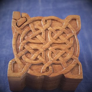 OMEN Celtic Puzzle Box in Mahogany