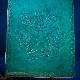 OMEN Small Herbal Pentagram Journal in Blue