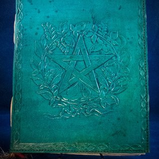 OMEN Small Herbal Pentagram Journal in Blue