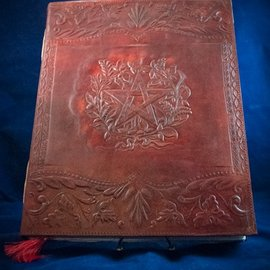 OMEN Large Herbal Pentagram Journal in Brown