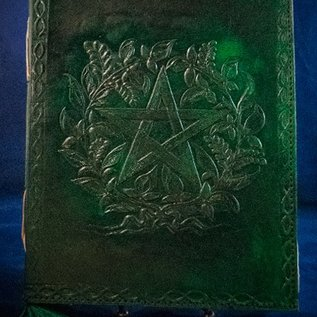 OMEN Small Herbal Pentagram Journal in Green