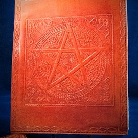 OMEN Small Pentacle in Square Journal in Orange