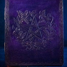 OMEN Small Herbal Pentagram Journal in Purple