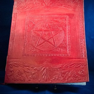 OMEN Large Pentacle in Square Journal in Red