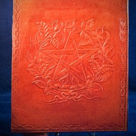 OMEN Small Herbal Pentagram Journal in Orange