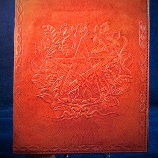 OMEN Small Herbal Pentagram Journal in Orange