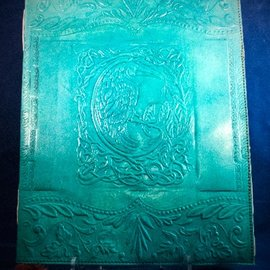 Large Raven Journal in Blue