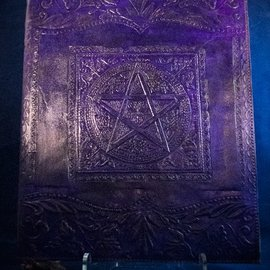 OMEN Large Pentacle in Square Journal in Purple