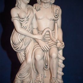 Hygeia and Asclepius Statue