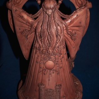 OMEN Arianrhod Statue by Maxine Miller in Wood
