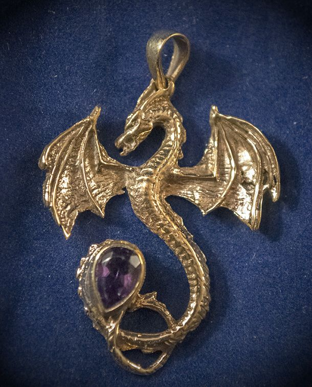 Omen solid bronze dragon pendant with faceted amethyst omen omen solid bronze dragon pendant with faceted amethyst aloadofball Choice Image