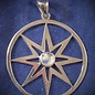 OMEN Sterling Silver 8-pointed Star with Moonstone