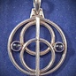 OMEN Antique style Sterling Silver Chalice Well Pendant with Iolite