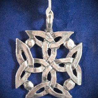 Dragon Jewelry Irish Solar Cross Pendant in Sterling Silver