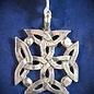 OMEN Irish Solar Cross Pendant in Sterling Silver