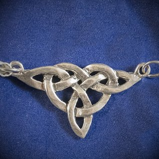 Dragon Jewelry Large Triquetra Centerpiece Pendant in Sterling Silver