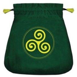 Llewellyn Worldwide Celtic Triskel Velvet Bag