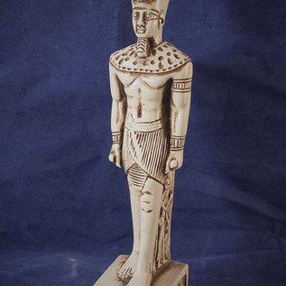 Medium Standing Amun-Ra Statue, White Finish