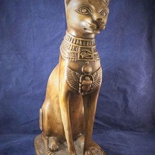 Extra Large Cat Bast Statue, Olive Finish