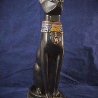 OMEN Large Bast Cat Statue, Black Finish