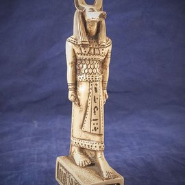 OMEN Medium Anubis Statue, White Finish