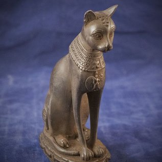 OMEN Small Cat Bast Statue, Grey Finish